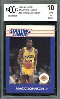 1988 Kenner Starting Lineup Cards #36 Magic Johnson Card BGS BCCG 10 Mint+