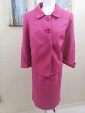 GIORGIO SANT ANGELO Women 2PC Elegant Pink Skirt Suit Size 14 W