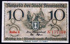 FRAUSTADT rarer 10 Pf Series II complete Notgeld Germany Posen Wschowa Poland