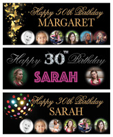 "40""x15""  Personalised Birthday Banner Decorations 18th/21st/30th/50th/60th/70th"