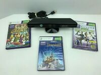 Xbox 360 Kinect Bundle with 3 Kinect Games Disneyland Sports Adventure - Tested