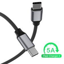 USB Tipo C A USB-Cable de carga de 3.1 C Macho a Macho para MacBook Super Speed 5A