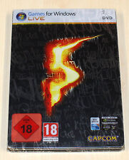 Resident EVIL 5-Collectors Edition-Steelbook Uncut-Pc Gioco-FSK 18