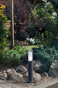 Außen Sockel Leuchte Garten Wege Lampe Licht Hof Beleuchtung GAP anthrazit NEU