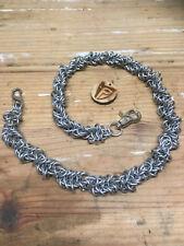 Chainmail Wallet Chain - Locked Twist - Handcrafted - 14 Gauge
