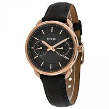 Fossil Ladies Tailor Grey Leather Strap Watch ES3913
