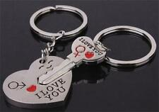 1 Pair Key to My Heart Charm Couple Keychain Keyring Love Gift Valentine's Day