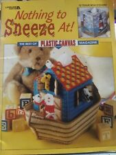 New listing Nothing To Sneeze At Noah Ark Tissue Plastic Canvas Needlepoint Pattern Booklet