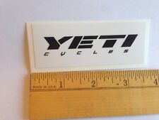 "3 7/16""  YETI CYCLES Black/White Axe MTB BICYCLES BIKE FRAME -- STICKER DECAL"