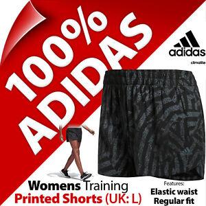 adidas Womens Stretchy Elastic Waist Climalite Shorts for Running Gym Yoga UK L