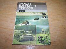 Calendrier Automobile Moteur livre de DDR 1981 SIMSON W50 NVA WARTBURG trabant
