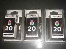 CARTOUCHE LEXMARK 20 COULEUR NEUVE SOUS BLISTER