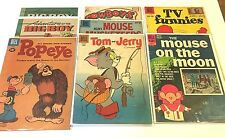 8 Issue Lot-Silver Age Cartoon Dell comics-Mouse on Moon,Popeye,Big Boy SB VG+