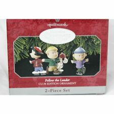 Hallmark Keepsake Ornament Follow The Leader New Peanuts Club Exclusive 2 Piece