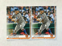 PETE ALONSO LOT OF 2 2019 Topps Update 150 YEARS GOLD STAMP SP RC's #US198! METS