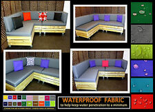 QUOTE & WATERPROOF FABRIC SAMPLES FOR MADE TO MEASURE PALLET FURNITURE CUSHIONS