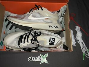 Off White *Zoom Fly* (VNDS) WITH TAGS, 2 SPARE LACES, STOCK X 100% AUTHENTIC