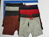 5 X MENS LEVIS COTTON FLY FRONT Briefs Boxer Shorts LOOSE FIT 100 % Cotton S-XL
