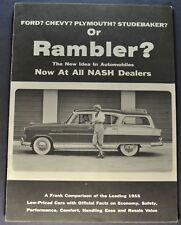 1955 Nash Rambler Comparison Brochure Country Club AMC Excellent Original 55