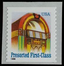 1996 25c Juke Box, American Designs, Coil Scott 2912a Mint F/VF NH