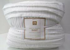 Pottery Barn Teen Super Cozy Pretty Pleats Quilt Twin Twin Xl White #8240