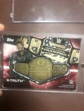 Wwe 1/1 R Truth Championship Plate Card