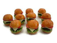 10 Loose Hamburger Dollhouse Miniatures Bakery Food Supply Deco Fast Food