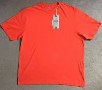 M&S PURE COTTON CREW NECK T-SHIRT IN RED - BNWT