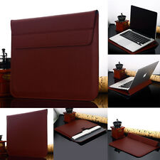 "Leather Sleeve Pouch Case Carry Bag F 13-13.3"" Apple Macbook Air Pro Retina iPad"