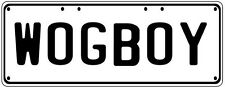 WOG BOY Number Plate Fathers Day Gift Man Cave Pool Room  Licence Plate