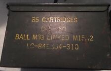 US Military Surplus .50 Cal Ammo Can Metal Storage Box FAT 50 | M15A2 M33
