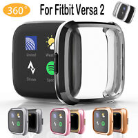 NEW for Fitbit Versa 2 Accessories Silicone Protective Case Anti-Scratch Cover