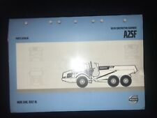 Volvo A25F Articulated Hauler Parts Catalog w/ Case & DVD *BRAND NEW IN PLASTIC*