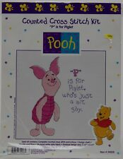"Disney Winnie the Pooh ""P"" is for Piglet Counted Cross Stitch Kit #34408 NIP"