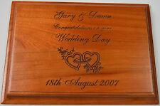 PORTA matrimonio personalizzato nome in legno di ciliegio la placca in legno inciso a laser vintage