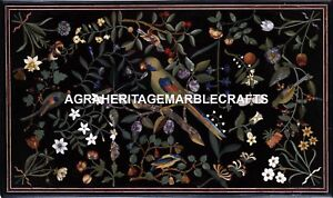 Marble Dining Table Top Rare Parrot Pietradura Inlay Stone Work Gift Decor H1721