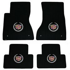 NEW! BLACK FLOOR Mats 2003-2007 Cadillac CTS Silver Crest logo on All 4 Mats