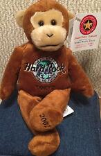 Hard Rock Cafe TOKYO 2002 EARTH DAY Monkey TEDDY BEARA BEAR w/Globe Logo #1/432