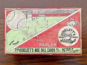 Rare 1910 Antique AYDELOTT'S BASEBALL CARD GAME - Complete & Excellent Condition