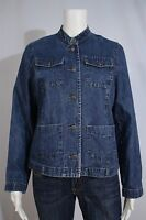 Sonoma Misses SMALL Blue Denim Tailored Casual Jacket