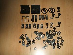 Märklin Metallbaukasten verschiedene schwarze Teile Top erhalten