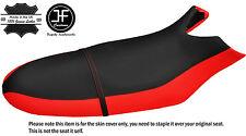 BLACK & RED CUSTOM FITS SEA DOO RX 00-06 AUTOMOTIVE VINYL SEAT COVER + STRAP