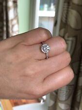 18ct W/G 1.17ct F, SI1, Diamond halo Style Ring