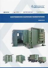 ARMPOL WORKSHOP CONTAINER 2015 POLISH ARMY MILITARY BROCHURE PROSPEKT FOLDER