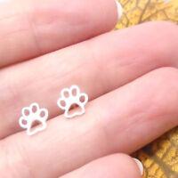 Hund Katze Pfote Pfötchen Design Ohrringe Ohrstecker 925 Sterling Silber neu