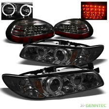 For Smoked 97-03 Grand Prix Halo Projector Headlights+LED Tail Lamp Head Lights