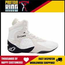OTOMIX STINGRAY US-9 WHITE SHOES FLAT SOLE HIGH TOP GYM MMA FIGHTING LIFTING