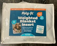Weighted Blanket Insert 12 Pounds White 42� x 72� Thin Comfort Flexible Poly-Fil