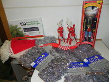 Pre-Owned Christmas Lights & Items: NIB NutCracker,Skirt, Reindeer, New Garland