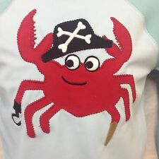 Gymboree Swim Shirt Sunscreen Swimwear Long Sleeve Pirate Crab Blue 18-24 Mos